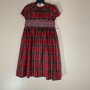 NWT Laura Ashley London Red Plaid Dress